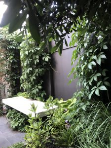 Landscaping Design with Floating Seat